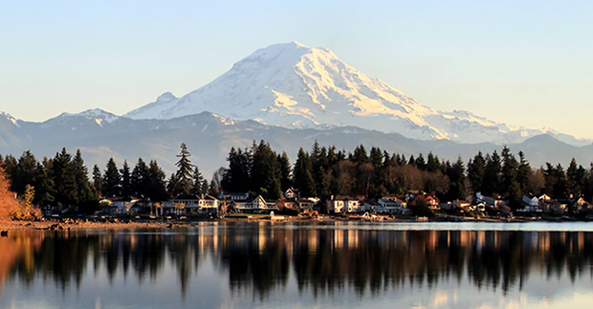 Bonney Lake with Mt. Rainier in the background